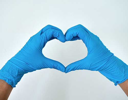 Disposable Gloves Heart